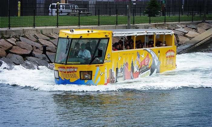 Boston Super Tours - Redeem Online: Departure for Super Duck Tours Only : Duck Tour or Upper Deck Trolley Tour for Kids or Adults from Boston Super Tours (Up to 27% Off). Five Options.