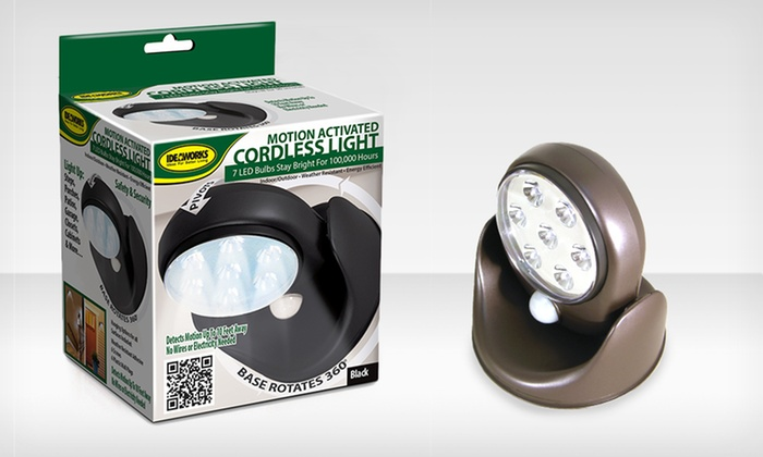 Motion Activated Indoor or Outdoor Light: Motion Activated Indoor or Outdoor Light. Multiple Colors Available.