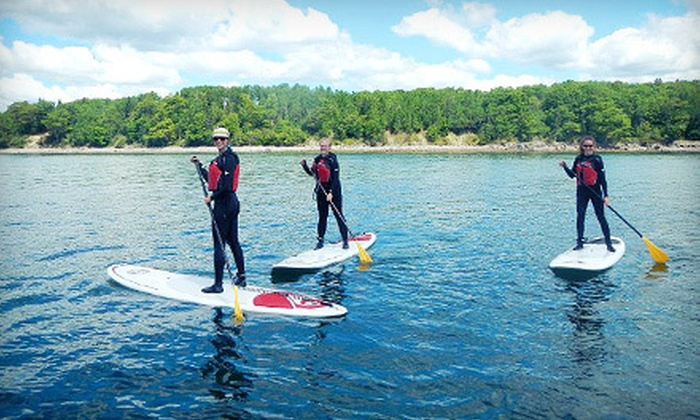 Acadia SUP - Pond Road: Four-Hour or Eight-Hour Standup Paddleboard Rental for Two from Acadia SUP in Bar Harbor (Up to 57% Off)