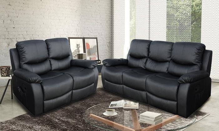 Divano Reclinabile Due Posti : Divano massaggiante reclinabile groupon goods
