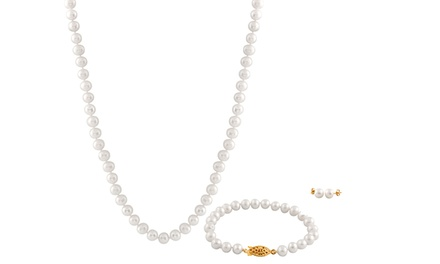 3-Piece Freshwater Pearl Jewelry Set