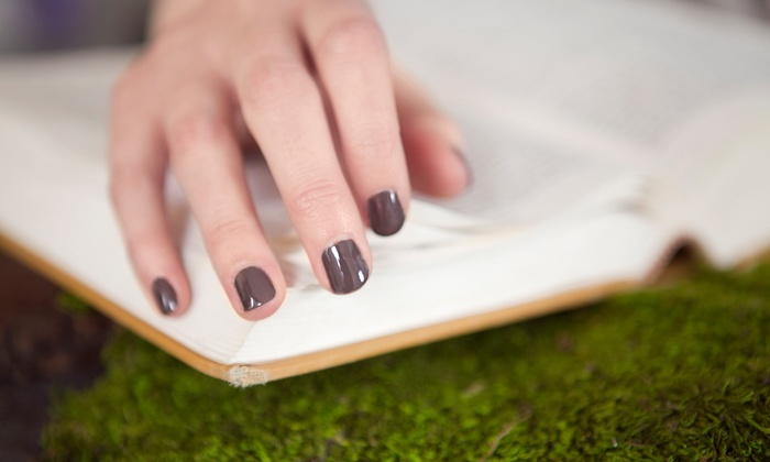 Wright Nails - Salon Concepts Montgomery: Shellac Manicure or Mani-Pedi at Wright Nails (46% Off)