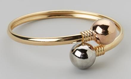 18K Gold-Plated Ball Cuff