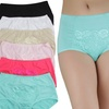 Women's Lace Detail Full Coverage Briefs (6-Pack)