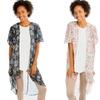 Lyss Loo Women's Plus-Size Paisley Kimono Cardigan