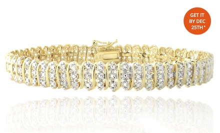 1 ct.tw. Diamond Bracelet. Free Returns.