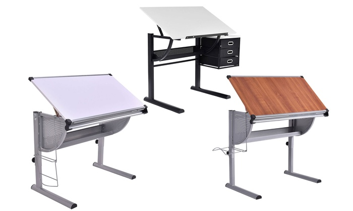 Excellent Tiltable And Adjustable Art Table Groupon Goods Download Free Architecture Designs Embacsunscenecom