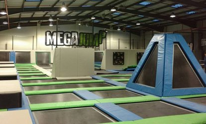 image for Trampoline Park Access for Up to Four People at Mega Jump (Up to 45% Off)
