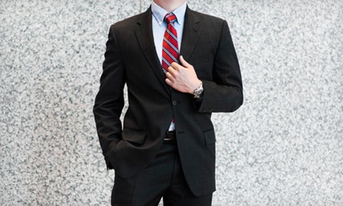 Luxury Plus - Woodbridge: Three Monogrammed Shirts, Custom Tailored Wool Suit, or Custom Ermenegildo Zegna Suit at Luxury Plus (Up to 78% Off)