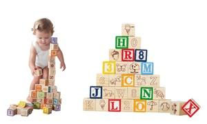 30 cubes en bois apprentissage