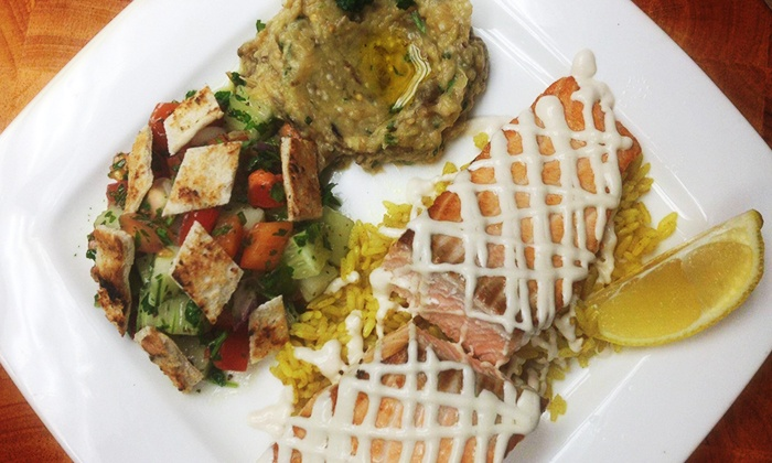 Mazah Mediterranean Eatery - Grandview Heights: Mediterranean Cuisine at Mazah Mediterranean Eatery (Up to 51% Off). Three Options Available.