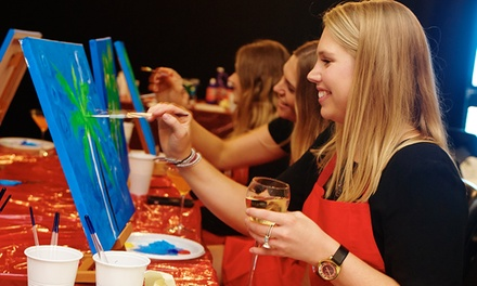 TwoHour Social Painting Night $29 or 2 People $55 with Life with Paint, Three Locations Up to $101.40 Value