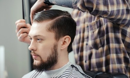 Male Haircut from R49 with Optional Scalp Massage and Beard Trim at Salon Mystique (Up to 64% Off)