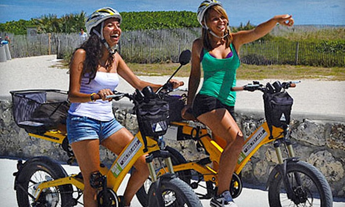 Wheels 2 Go Miami - Miami: $25 for 90-Minute Electric-Bike Tour of South Beach from Wheels 2 Go Miami ($49 Value)