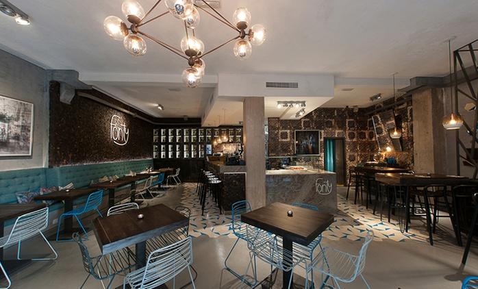 Cena gourmet para 2 personas con entrante, principal, postre y bebida por 34,95 € en 2 restaurantes Fonty Bistro