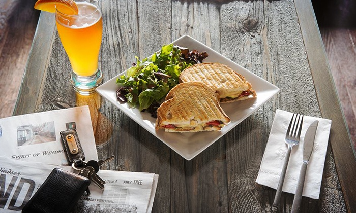 The Squirrel Cage - City Centre: C$12 for Two Paninis at The Squirrel Cage (C$17.50 Value)