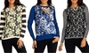Women's Printed Long-Sleeve Sweaters: Women's Printed Long-Sleeve Sweaters
