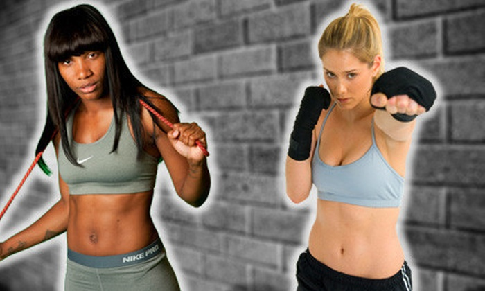 Hip + Fit - Tribeca: 5 or 10 Women's Kickboxing Boot Camp Classes at Hip + Fit (Up to 75% Off)