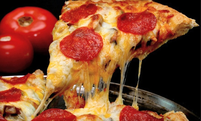 Michelangelo's Pizza - Cary: Pizza Dinner for Two or Four or $25 for $50 Worth of Catered Italian Food from Michelangelo's Pizza
