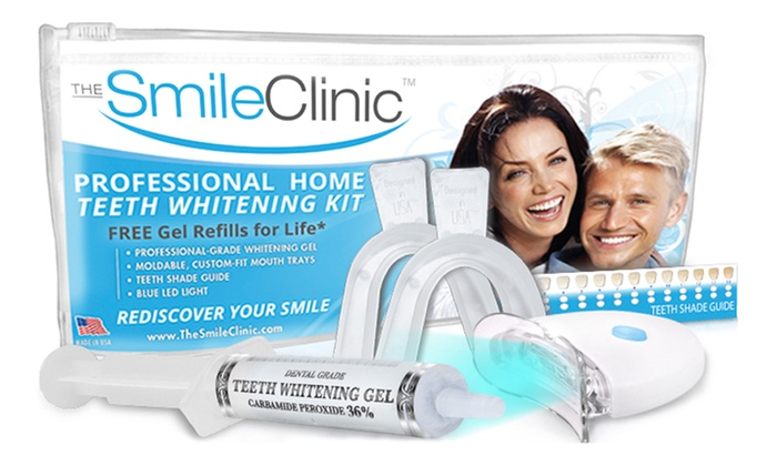 The Smile Clinic: $16 for a Take-Home Teeth-Whitening Kit with Gel Refills for Life from The Smile Clinic ($123.90 Value)