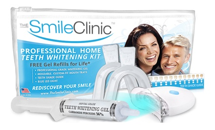 $16 for a Take-Home Teeth-Whitening Kit with Gel Refills for Life from The Smile Clinic ($123.90 Value)