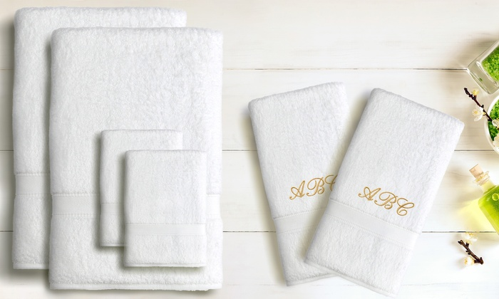 Linum Towels: Luxury Six-Piece 100%Turkish Cotton Towel Set with Optional Three-Letter Monogram (Up to 65% Off)