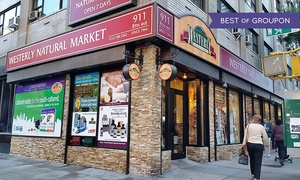 Westerly Natural Market: Organic Groceries and Supplements at Westerly Natural Market (Up to 50% Off). Two Options Available.