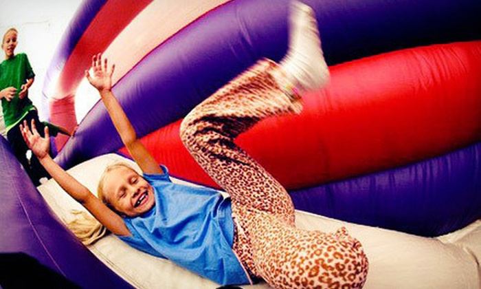 BounceU - Charlotte: Open Bounce, Pre-K Drop-Off Program, One-Day Camp, Summer Passport, or Bounce Party for 12 at BounceU (Up to 56% Off)