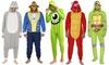 Disney, Nickelodeon, Nintendo Men's Onesie Pajama Union Suit