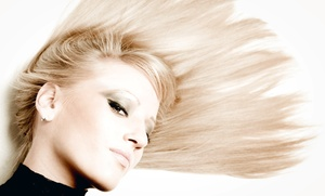 The Hair and Color Bar: Color, Gloss, and Highlight Treatments at The Hair and Color Bar (Up to 51% Off). Three Options Available.