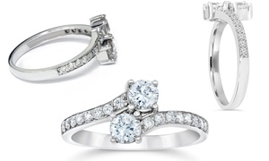 2 CTTW Forever Us Two Stone Diamond Ring in 14K White Gold