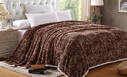 Animal-Print Sherpa Blanket