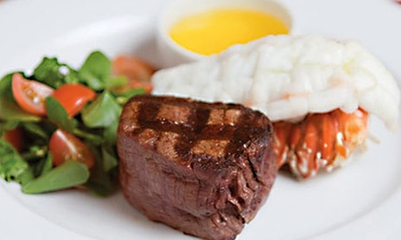 Steaks, Seafood, and Drinks at Centennial Steakhouse at Zia Park Casino (50% Off). Two Options Available.