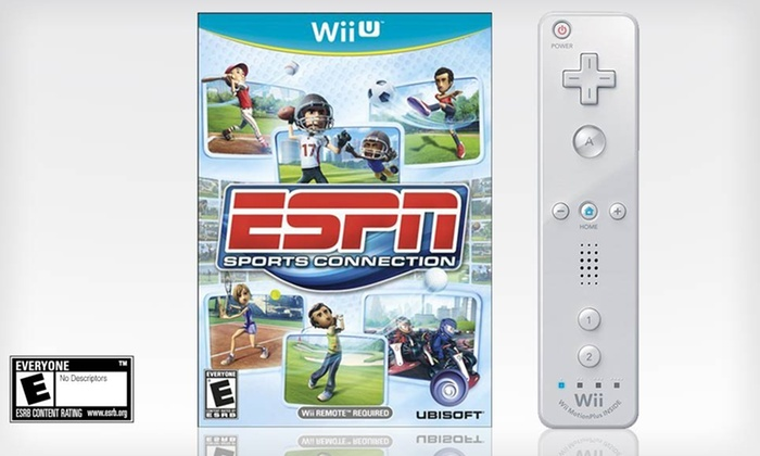 ESPN Sports Connection and Wii Plus Remote for Wii U: ESPN Sports Connection and Wii Plus Remote for Wii U. Free Returns.