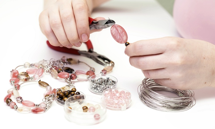 Crazy Mama's Celestial Emporium - Spring: 3.5-Hour BYOB Jewelry-Making Party for One or Two at Crazy Mama's Celestial Emporium (Up to 54% Off)
