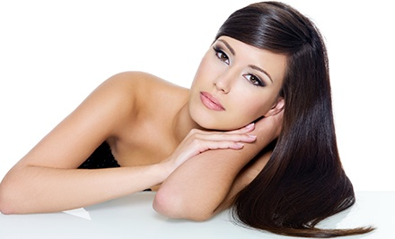 Haircut and a Deep-Conditioning Treatment with Option for Partial or Full Highlights or Full Coloring (Up to 55% Off)