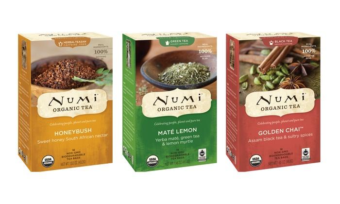 36 Count Numi Organic Tea Bags Groupon