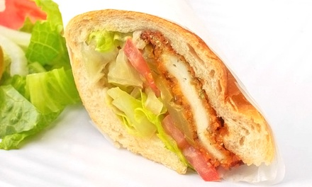Schnitzel, Sandwiches, and Drinks at Schnitzel Express (50% Off). Two Options Available.