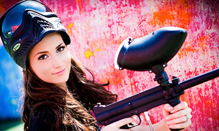 Paintballtickets.com - Multiple Locations: All-Day Paintball Package with Equipment Rental for 4, 6, 8, or 12 from Paintballtickets.com (Up to 83% Off)