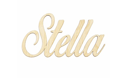 One or Two Unfinished Wood Name Signs from Morgann Hill Designs (Up to 57% Off)