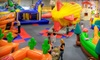 Bounce-a-Rama - Midtown: Bounce Pass and 80 Game Tokens or Two Bounce Passes with 40 Tokens, a Pizza, and Drinks at Bounce-a-Rama (Up to 53% Off)