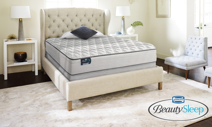 Simmons Beautysleep Firm Eurotop Mattress Set Memorial Day Hot