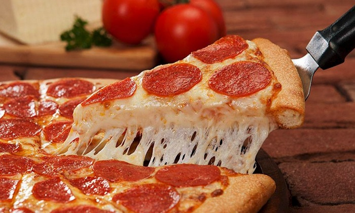 Food and Drink for Two or Four or Take-Out at Godfathers Pizza (Up to 40% Off). Five Options Available.