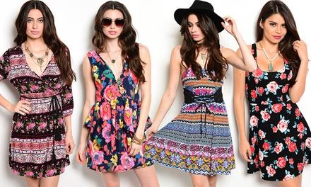 Floral-Print Dresses