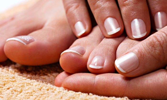 null - London, ON: One or Two Shellac Mani-Pedis at Naila's Spa (Up to 64% Off)