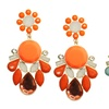 Gold-Plated Epoxy Stone Earrings