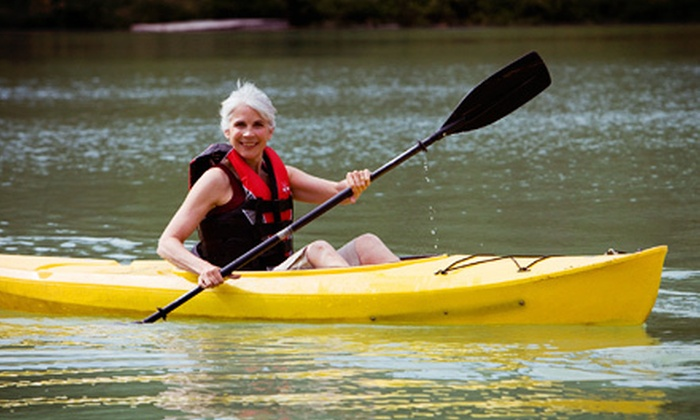 Red Rock Grill and Bar & Good to Go Kayak Rentals - Red Rock Grill/Good to Go Canoe rental: Kayaking and Lunch for Two or Four at R Red Rock Grill and Bar & Good to Go Kayak Rentals (Up to 52% Off)