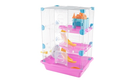 Small Animal Cage Habitat with Accessories and Castle House 7316cb8f-391f-418f-bdb1-a38c923b09c2