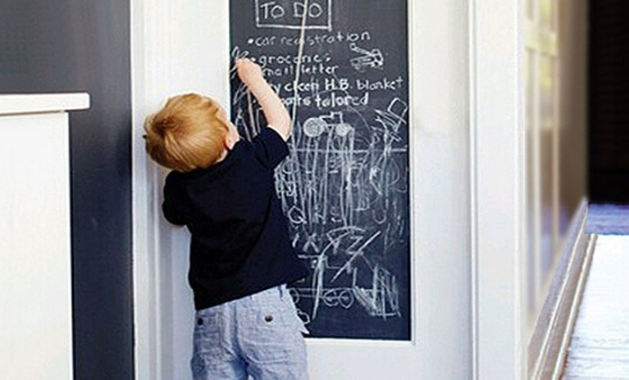 Chalkboard With Five Chalks for AED 39 (Up to 74% Off)