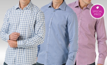 Report Collection Men's Long-Sleeved Dress Shirts. Multiple Styles Available.